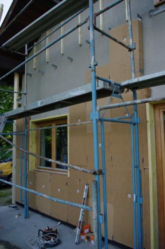 11- Préparation des supports, pose de la fibre de bois