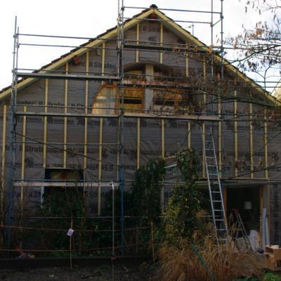 Isolation extérieure maison fibre de bois