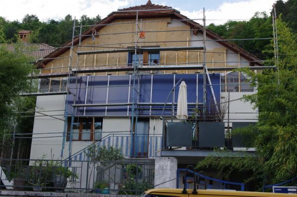 19- Isolation exterieure facade avant en cours