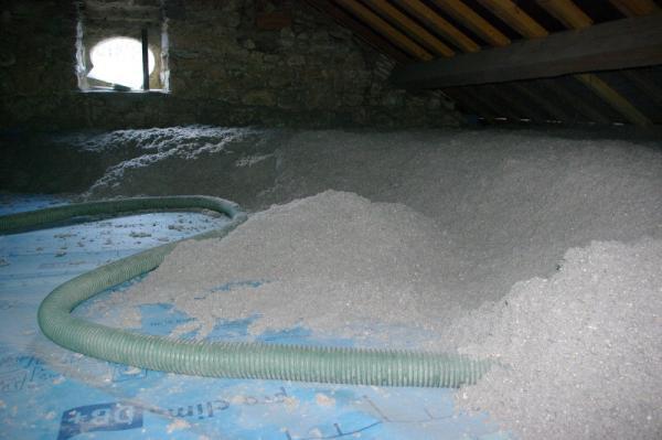 2-Soufflage de 40cm de ouate de cellulose