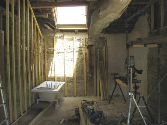 Montage de la structure bois