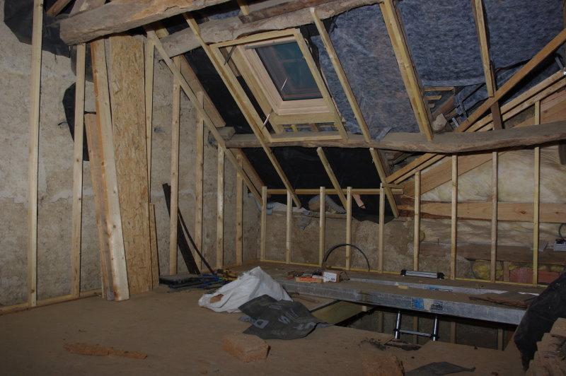 Pose du pare pluie et fenêtre de toit