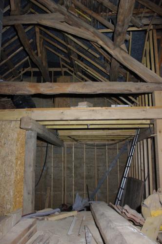 Mise en place de la structure bois